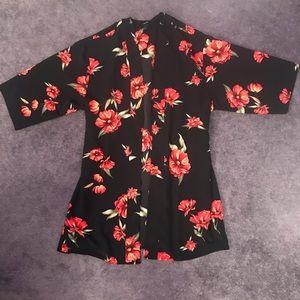 Forever 21 Floral Kimono Size L
